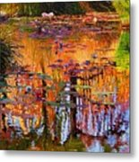 Ripples On Fall Pond Metal Print
