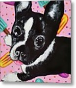 Popsicle Pup Metal Print