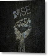 Rise Power Metal Print
