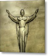 Risen Christ In Gold Metal Print