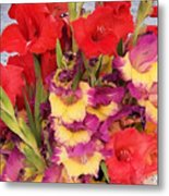 Rising Flowers Metal Print