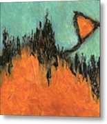 Rising Hope Abstract Art Metal Print