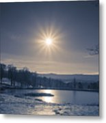 Rising Sun On A Cold Winter Morning Metal Print