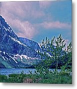 Rising Wolf Mountain And Two Medicine Lake Metal Print