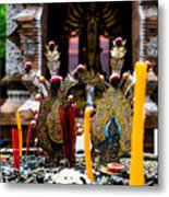 Risning Incense Prayers Metal Print