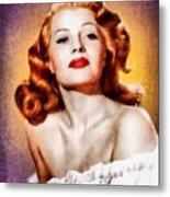Rita Hayworth, Vintage Actress Metal Print