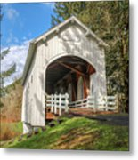 Ritner Creek Covered Bridge 0739 Metal Print