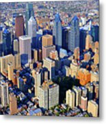 Rittenhouse Square Park And Philadelphia Skyline Metal Print by Duncan Pearson