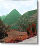 River Above The Valley Metal Print