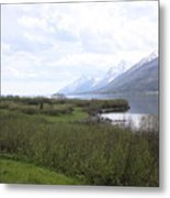 River Along The Rockies Metal Print