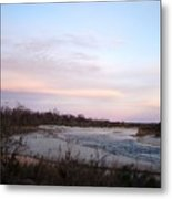 River At Dusk One Metal Print