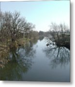 River At Marston On Dove Metal Print