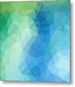 River Bank Geometric Design Metal Print