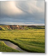 River Below The Clouds Metal Print