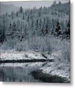 River Bend Winter Metal Print