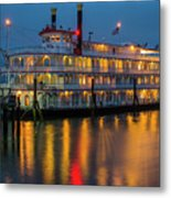 River Boat At Dusk Metal Print