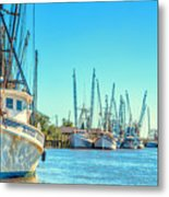 Darien Shrimp Boats Metal Print