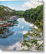 River Boats Docked Metal Print
