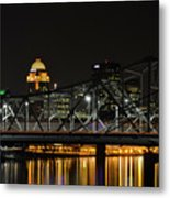 Ohio River Bridges And Louisville Skyline Metal Print