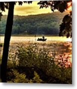 River Fishing  Metal Print