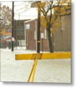 River Flowing Down The Street Hackensack Nj Metal Print