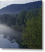 River Flowing In A Forest Metal Print