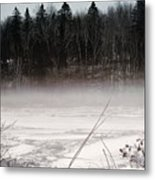 River Ice And Steam Metal Print