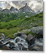 River In The French Alps Metal Print