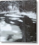 River Of Melting Ice Metal Print