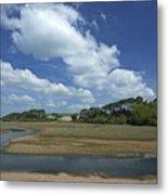 River Otter Estuary,  Budleigh Salterton, Devon, Southwest England, Uk Gb Metal Print