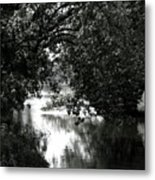 River Passage In Black And White Metal Print