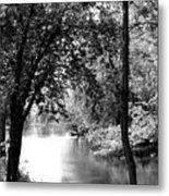 River Passage Through Trees Metal Print