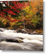 River Rapids Fall Nature Scenery Metal Print by Oleksiy Maksymenko