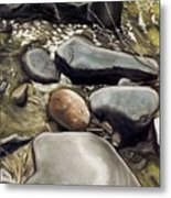 River Rock Formations Metal Print