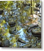 River Rocks Metal Print