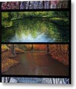 River Seasons Metal Print