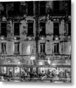 River Street Sweets Candy Store Black White  Metal Print
