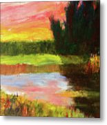 River Sunset Metal Print