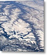 River Valley Aerial Metal Print