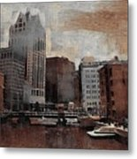 River View Aged Metal Print