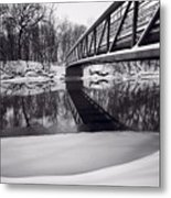 River View B And W Metal Print