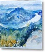River View Landscape Metal Print