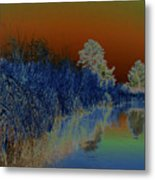 River View Serenity Metal Print