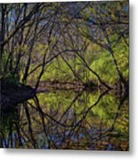 River Walk Reflections Metal Print