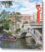 River Walk View San Antonio Metal Print