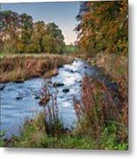 River Wansbeck At Wallington Metal Print