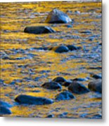 River Water And Rocks Metal Print