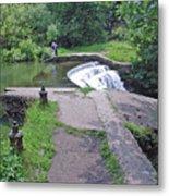River Wye Weir Metal Print