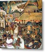 Rivera: Pre-columbian Life Metal Print