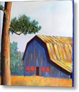 Riverbank Barn Metal Print